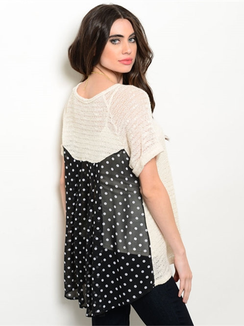 Ivory/Dots Top