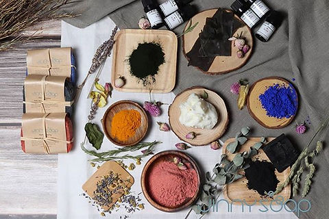 Jinnysoap's natural ingredients  Our han