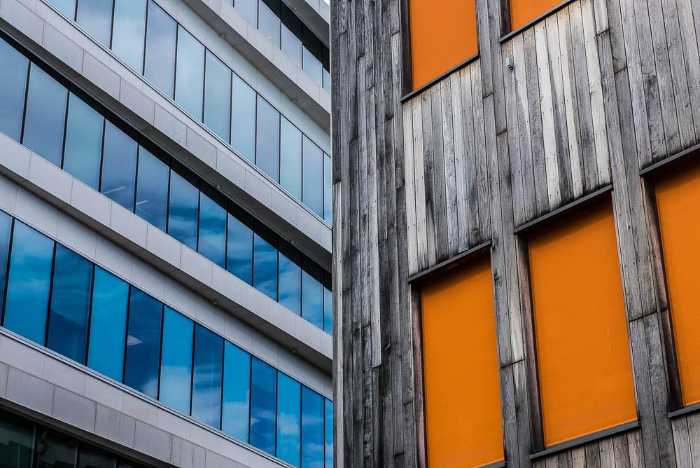facades bleu et orange - Oslo
