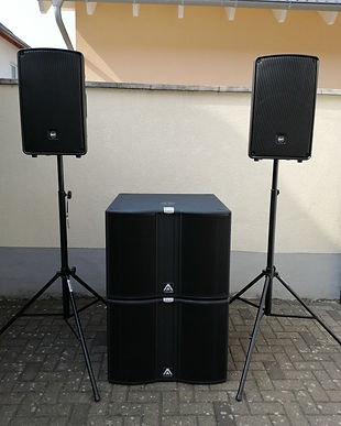Amate Audio jk18w1 + RCF HD 12-a