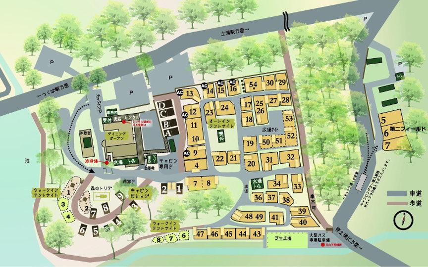 フォンテーヌの森施設マップ