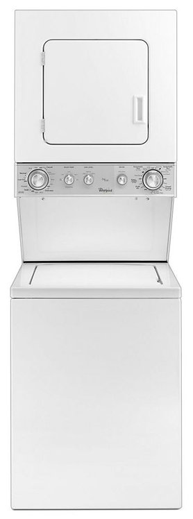 """1.6 cu.ft 24"""" Electric Stacked Laundry Center 6 Wash cycles and AutoDry™"""