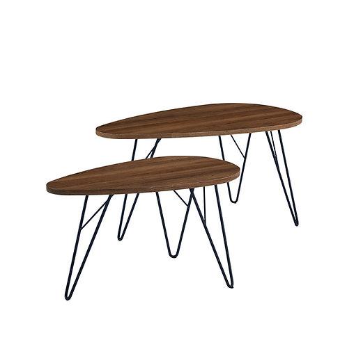 2-PCS NESTING TABLE BROWN/BLACK