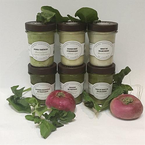 Coffret de saison - Crèmes de légumes 6 variétés
