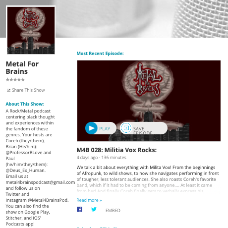 Metal4Brains podcast