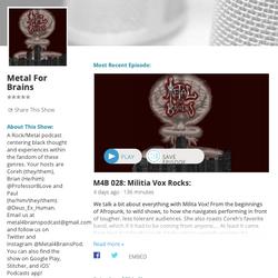 Metal4Brains podcast