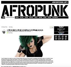 Afropunk black girls who literally rock.