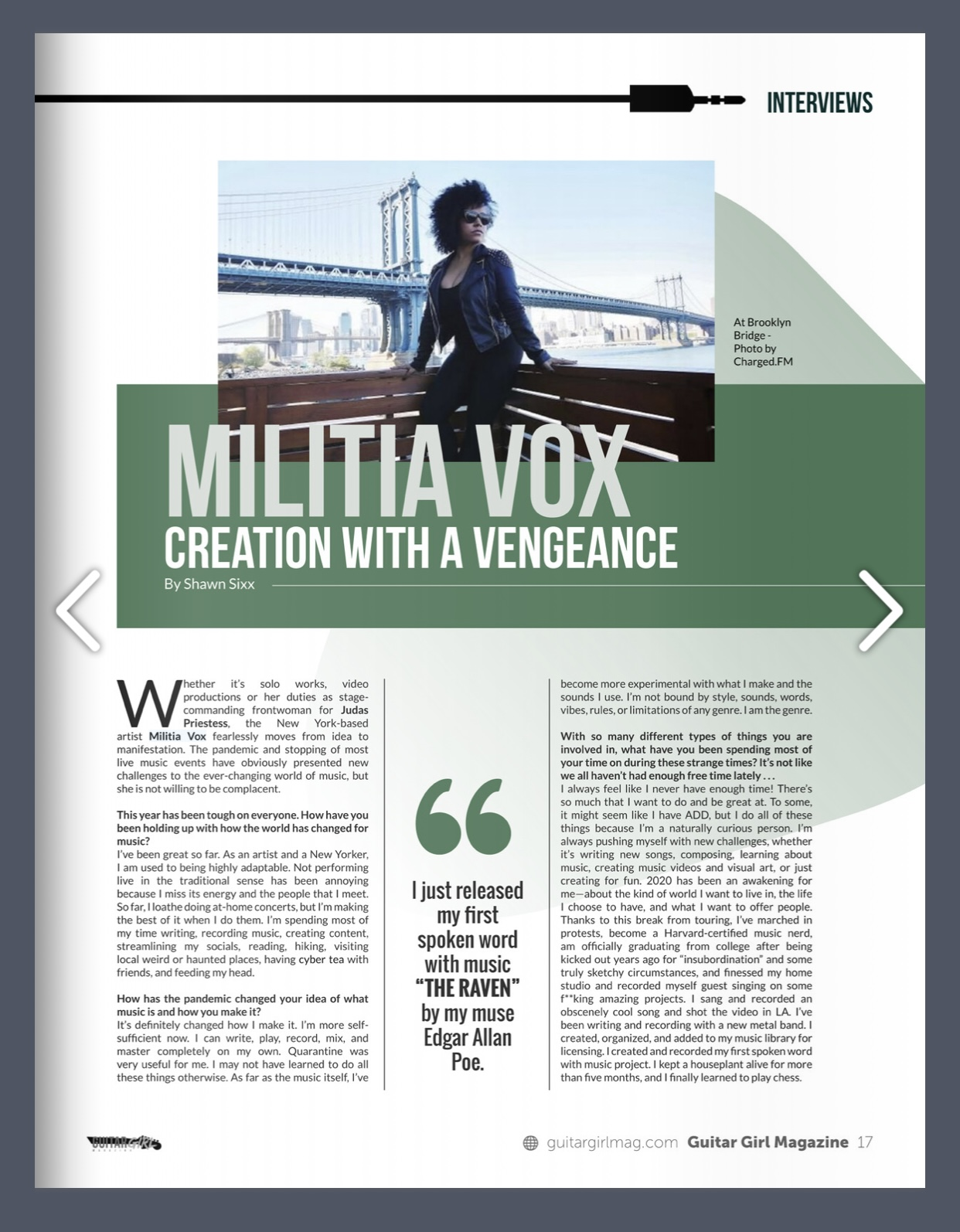 Militia Vox in GuitarGirl Magazine 1