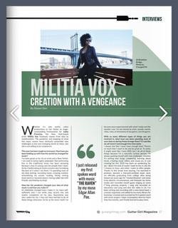 Militia Vox in GuitarGirl Magazine 1