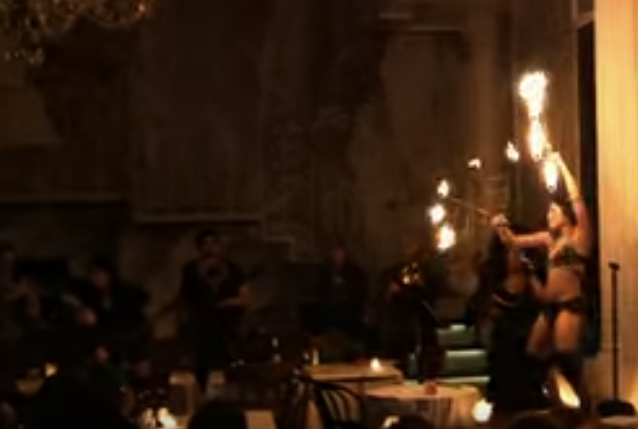Sky + Vlad Eros Fire Performance House of Voodoo 2013