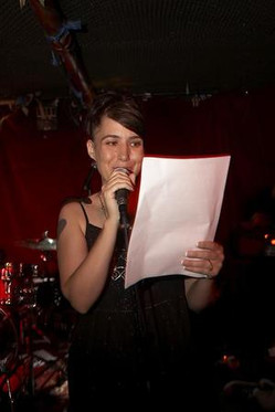 Kathleen Hanna [Bikini Kill] at the Gits Movie Party.j