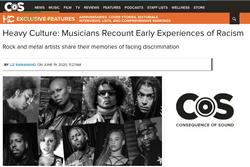 COS racism in metal