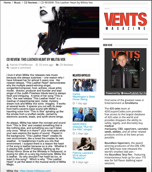VENTS - This Leather Heart review