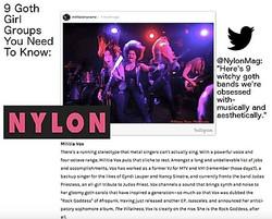Nylon Magazine Militia Vox
