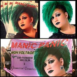 Manic Panic catalog and banner