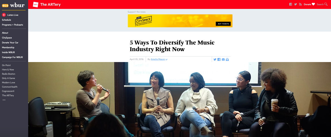 Diversity in the Music Industry Berklee.