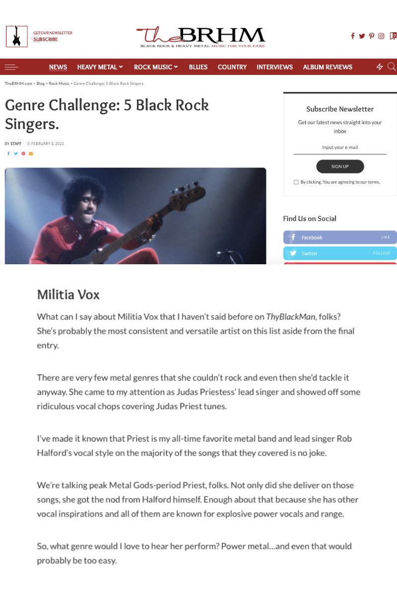 THE BRHM: 5 Black Rock Singers