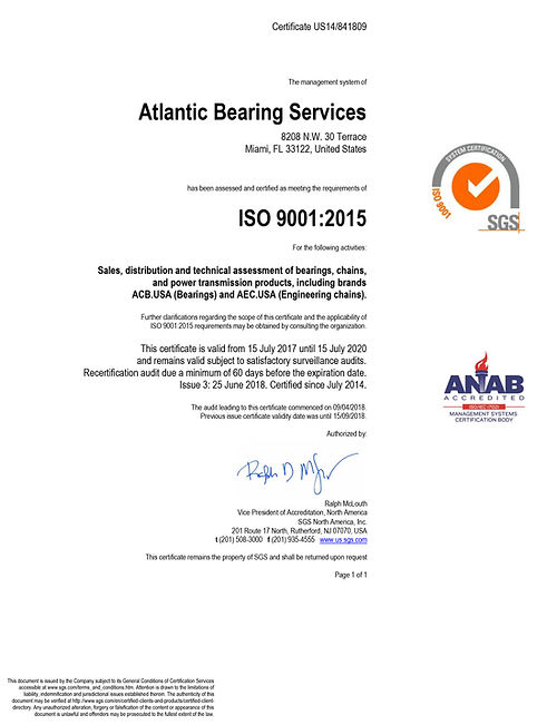 Atlantic Bearing 603080_Final Certificat