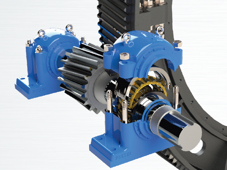 ACB Split Spherical Roller Bearings supporting driving pinions on Mills and Rotary Kilns