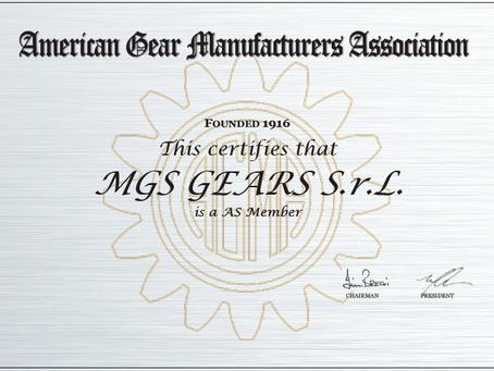MGS Gears SrL se convierte en miembro de AGMA Europa siendo el tercer miembro en Italia.