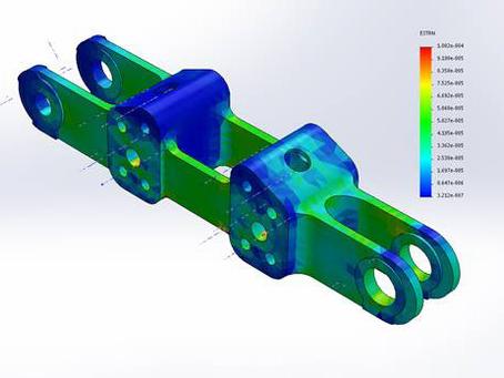 Fabricación de eslabones adicionales de 1.4 m de paso para la cadena de un difusor de caña