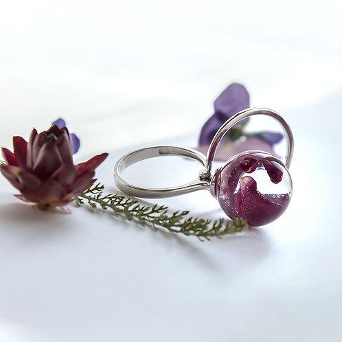 Кольцо с лепестками розы, арт. 01-0100-00
