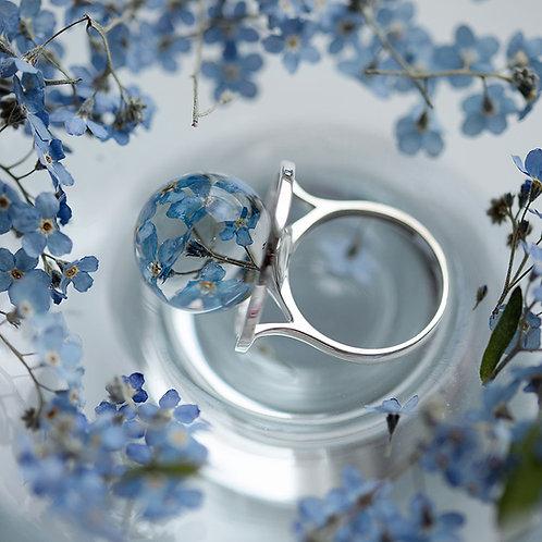 Кольцо с незабудками, арт. 01-0200-06