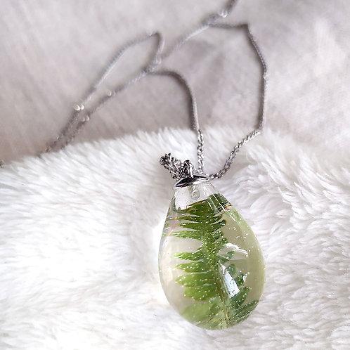 Серебряное колье с лесным папоротником, арт. 06-0101-15
