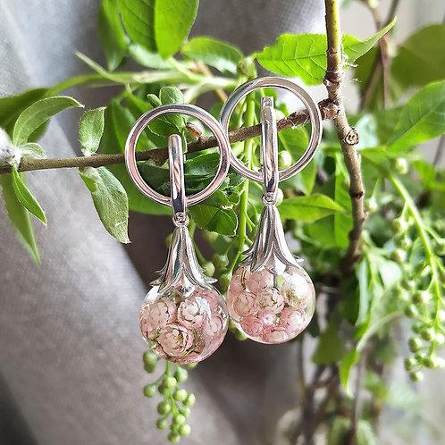 Красивые серебряные серьги с озотамнуом, арт. 02-0500-01