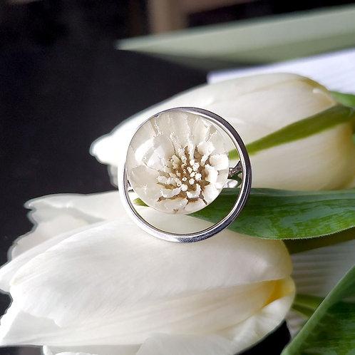 Кольцо с искристой жемчужницей, арт. 01-0200-28