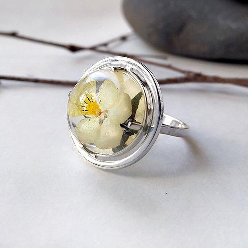 Солнечное колечко с цветком полевой фиалки, арт. 01-0310-09