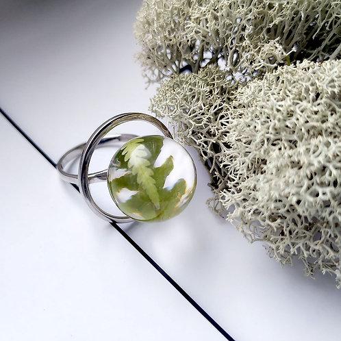 Кольцо с лесным папоротником, арт. 01-0200-15
