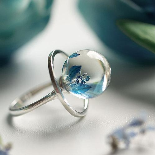 Кольцо с пролесками, арт. 01-0200-02