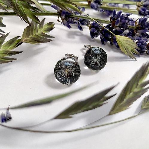 Серебряные пуссеты с пушинками одуванчика, арт. 22-1000-26