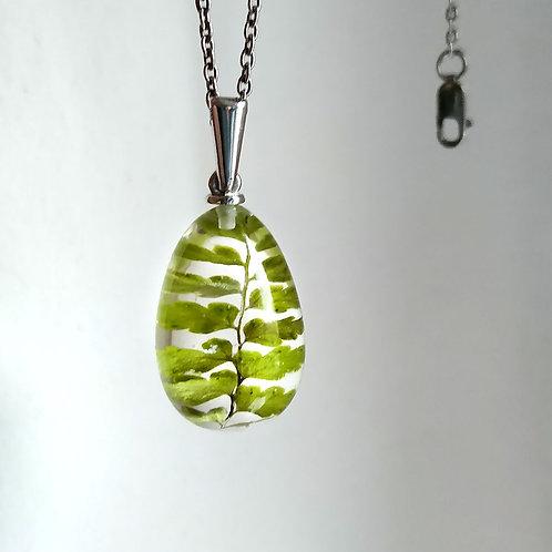 Кулон с листочком папоротника, арт. 03-0701-15