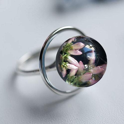 Кольцо с розовым вереском, арт. 11-0200-29