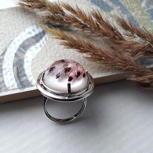 Серебряное кольцо с цветками Эрики, арт. 21-0310-29