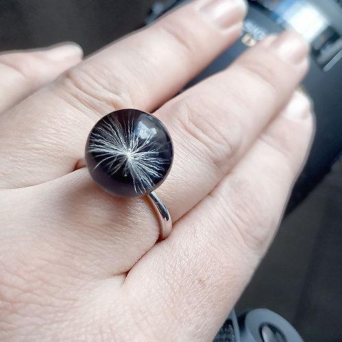 Кольцо с одной пушинкой Black collection, арт. 11-0400-26