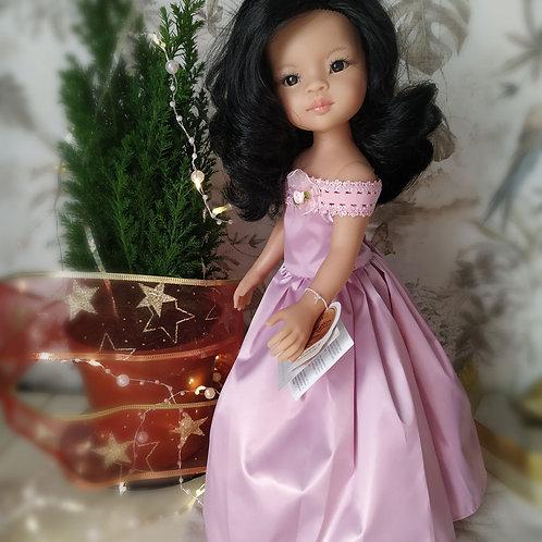 Вечернее платье цвета розовый металлик