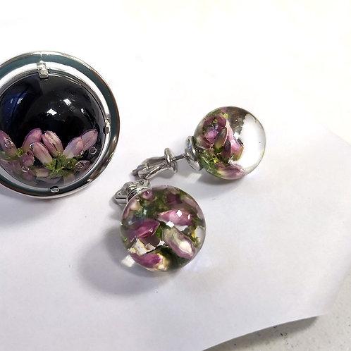 Пуссеты с розовым вереском, арт. 02-1000-29