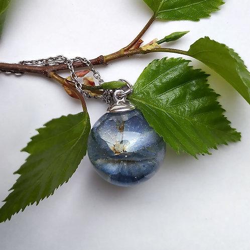Кулон с голубой гортензией, арт. 03-0400-03