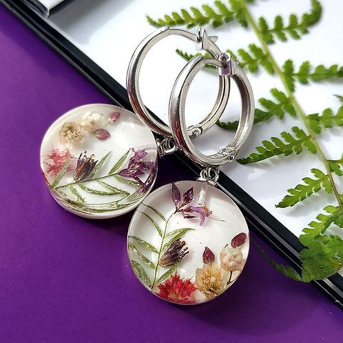 Серьги-конго с цветочной композицией, арт. 22-2106-00