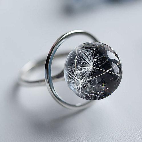 Серебряное кольцо с пушинками одуванчика, арт. 11-0200-26
