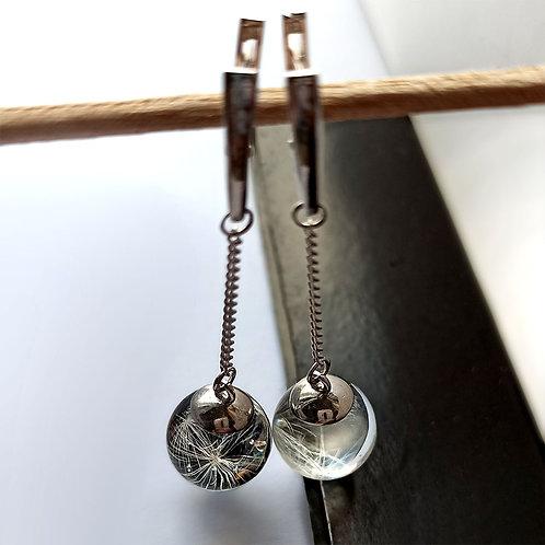 Длинные серьги с невесомыми пушинками, арт. 02-2700-26*