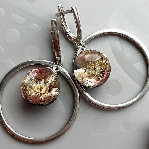 Серебряные серьги с озотамнусом, арт. 12-0400-01