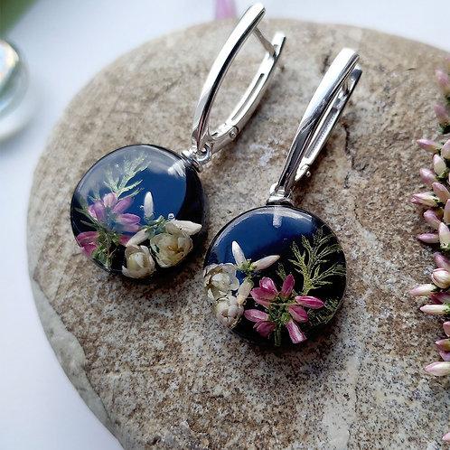 Серебряные серьги с цветочной композицией, арт. 12-0907-00