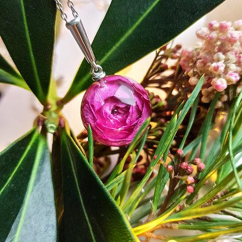 Серебряная подвеска с роскошной розой