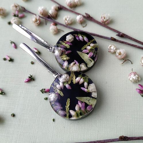 Серебряные серьги с цветочной композицией, арт. 12-2406-00