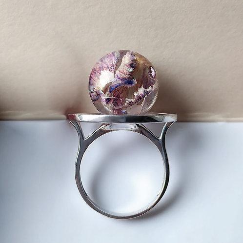 Серебряное кольцо с лепестками гвоздики, арт. 01-0200-32*