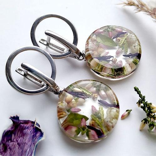 Цветочное великолепие в серебряных серьгах, арт. 02-0406-00
